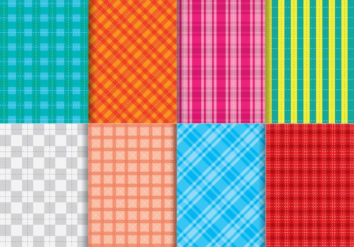 Bright Flannel Pattern Vectors