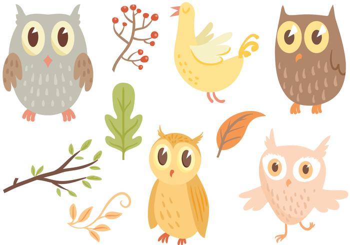 Freie Owl Vektoren