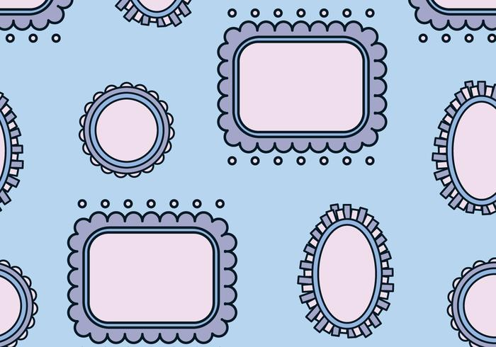 Blue Frames Pattern