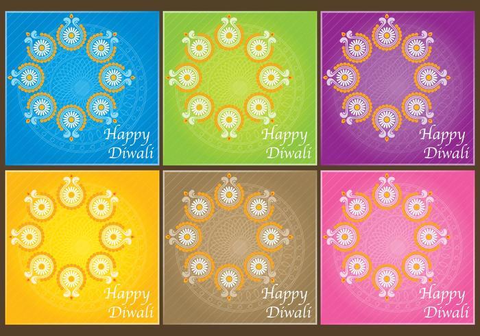Diwali Einladungsvektoren