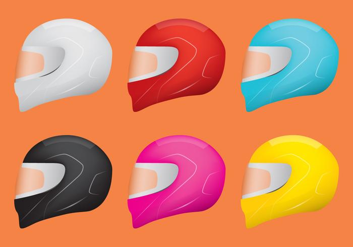 Motorcycle Helmet Vectors