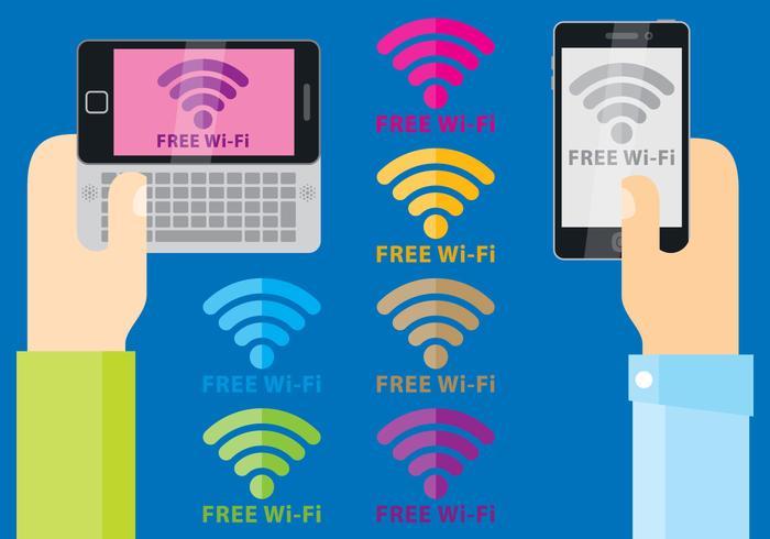 Gratis Wi-Fi Symbol vectoren