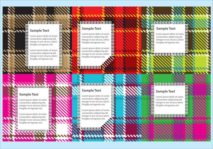 Flannel Fabric Vectors with Labels