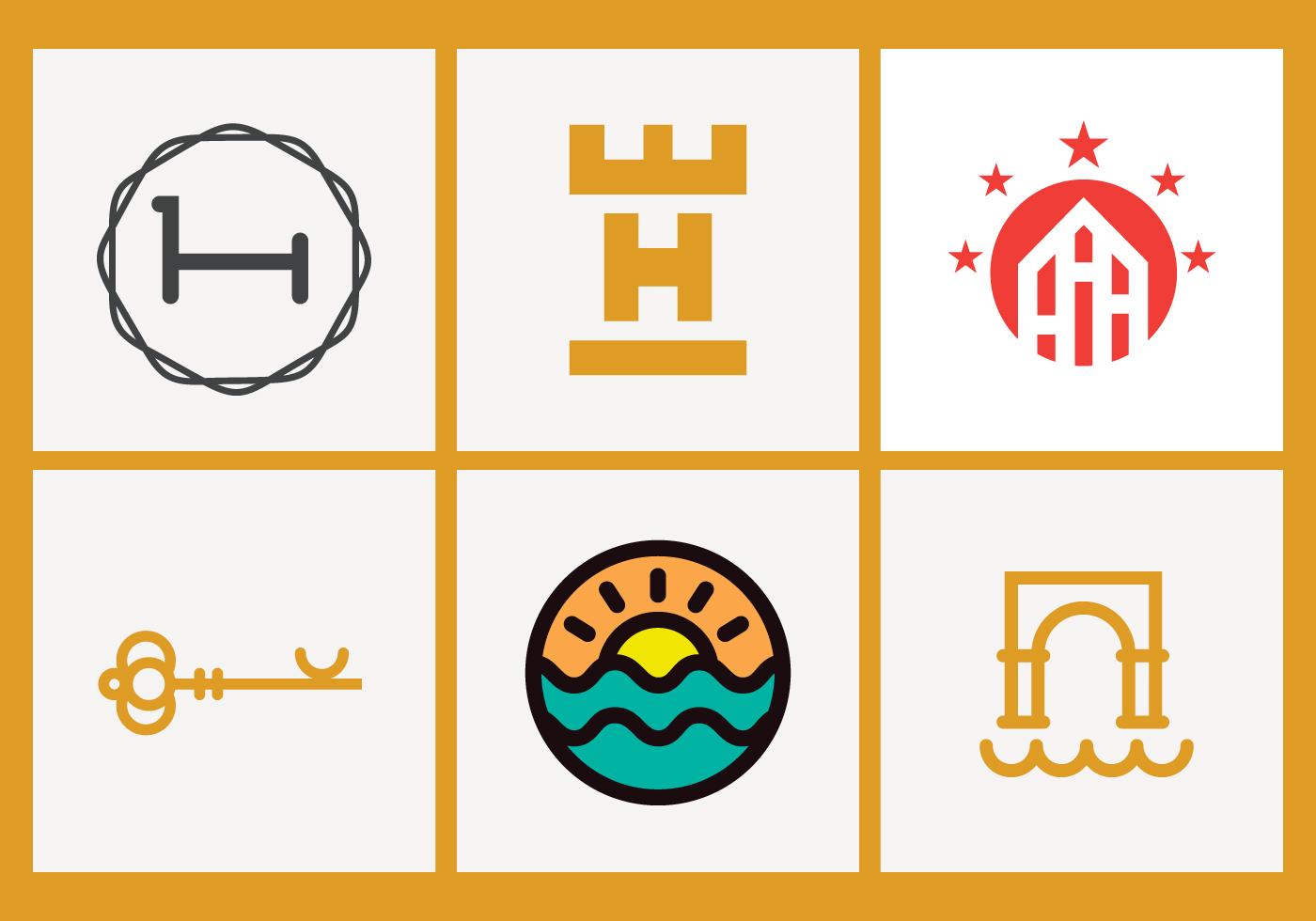 hoteles logo paquete descargue gr225ficos y vectores gratis