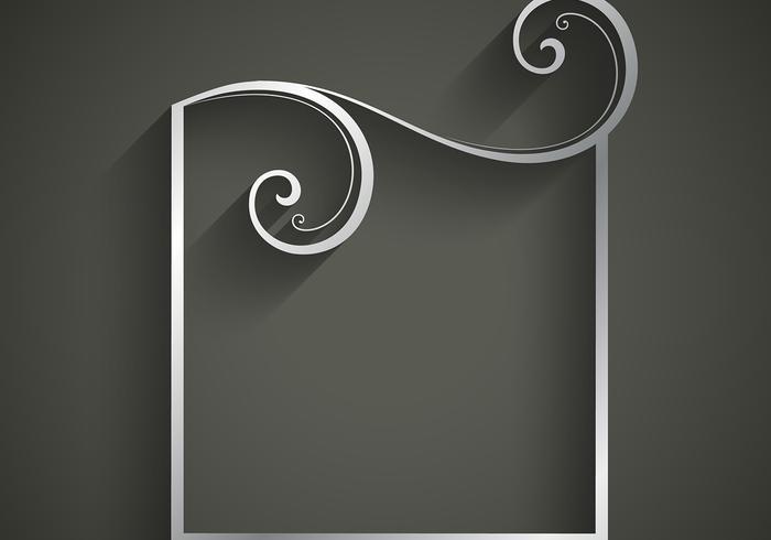 Floral frame Silber Hintergrund