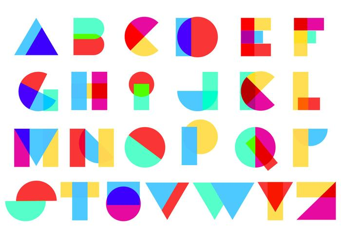 Full Color Abstract Alphabet vecteur