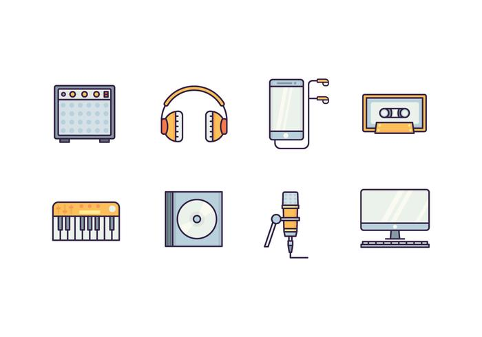 Free Music Production Vector