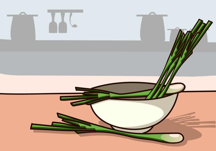 Lemongrass Ingredients in Kitchen