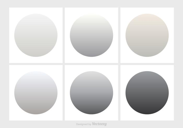 Shades Of Gray Gradient Vector Set