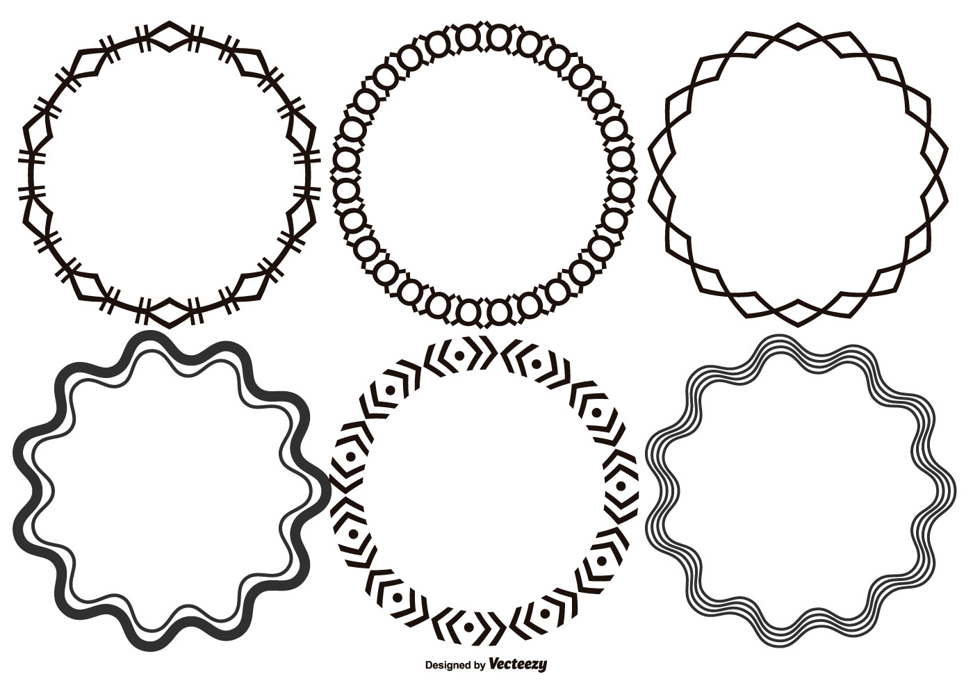 round decorative vector frames