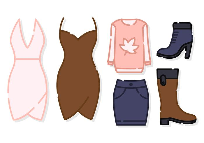 Cute Women Clothes Vector