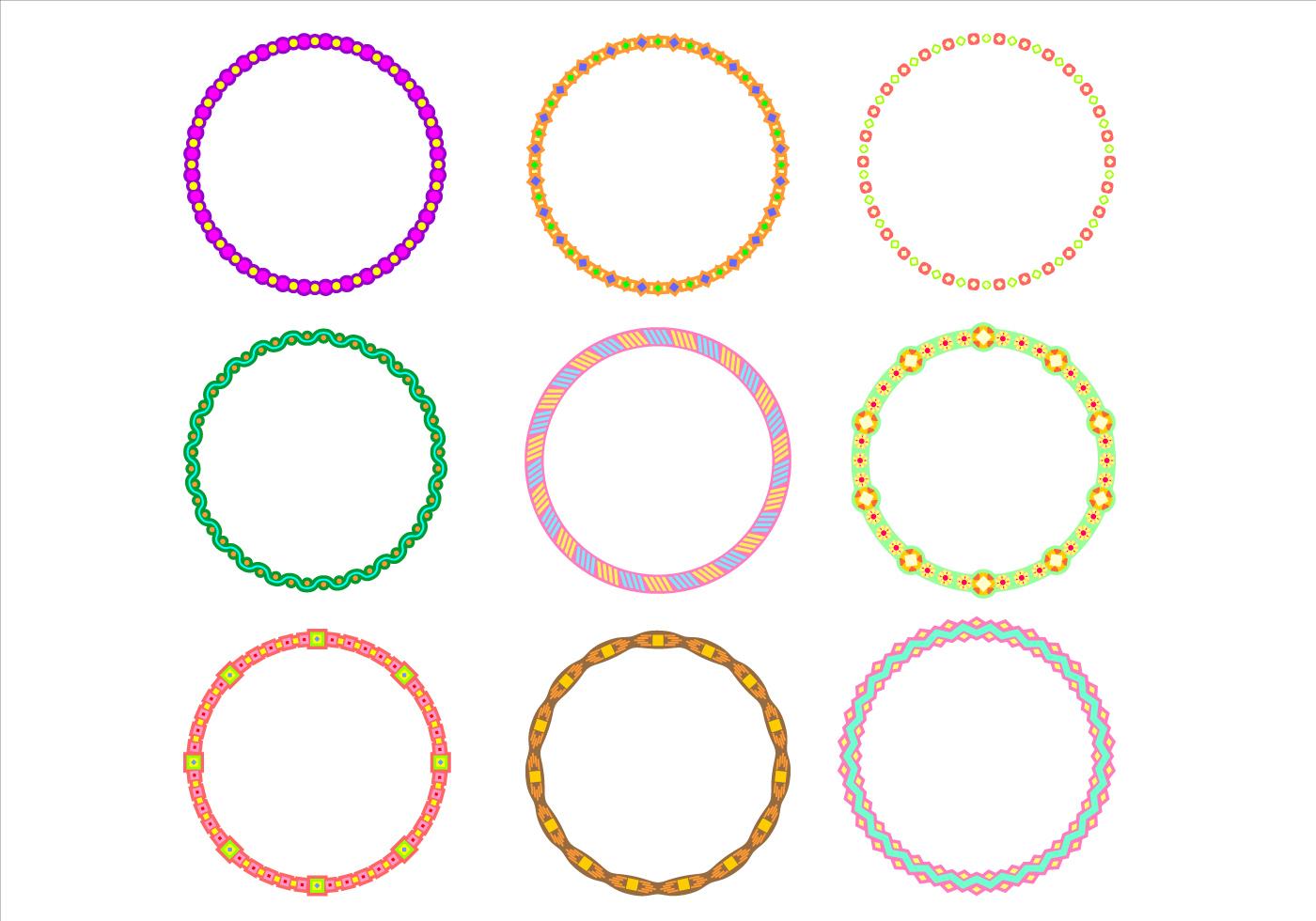 Cute Circle Border Funky Frames Free Vector - Download ...