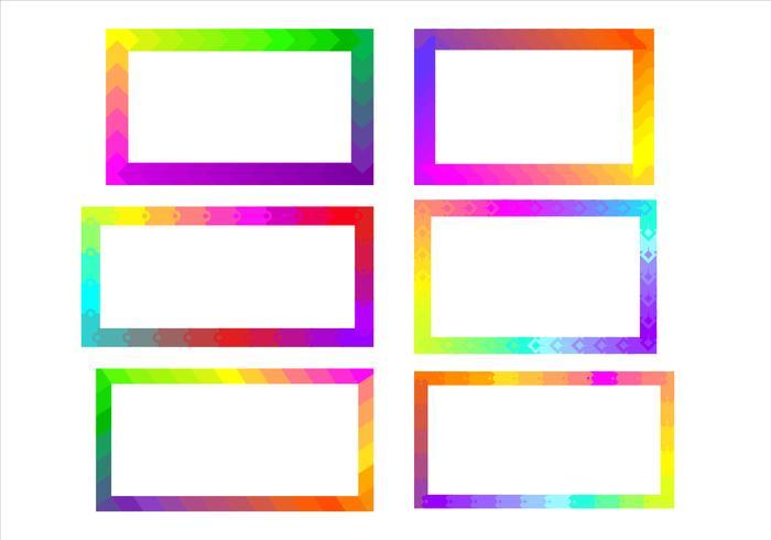 Rainbow Funky Frames Free Vector
