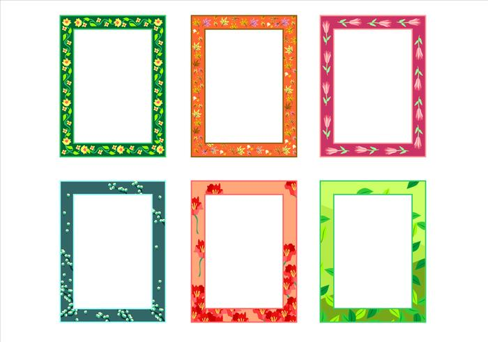 Natural Potrait Funky Frames Free Vector