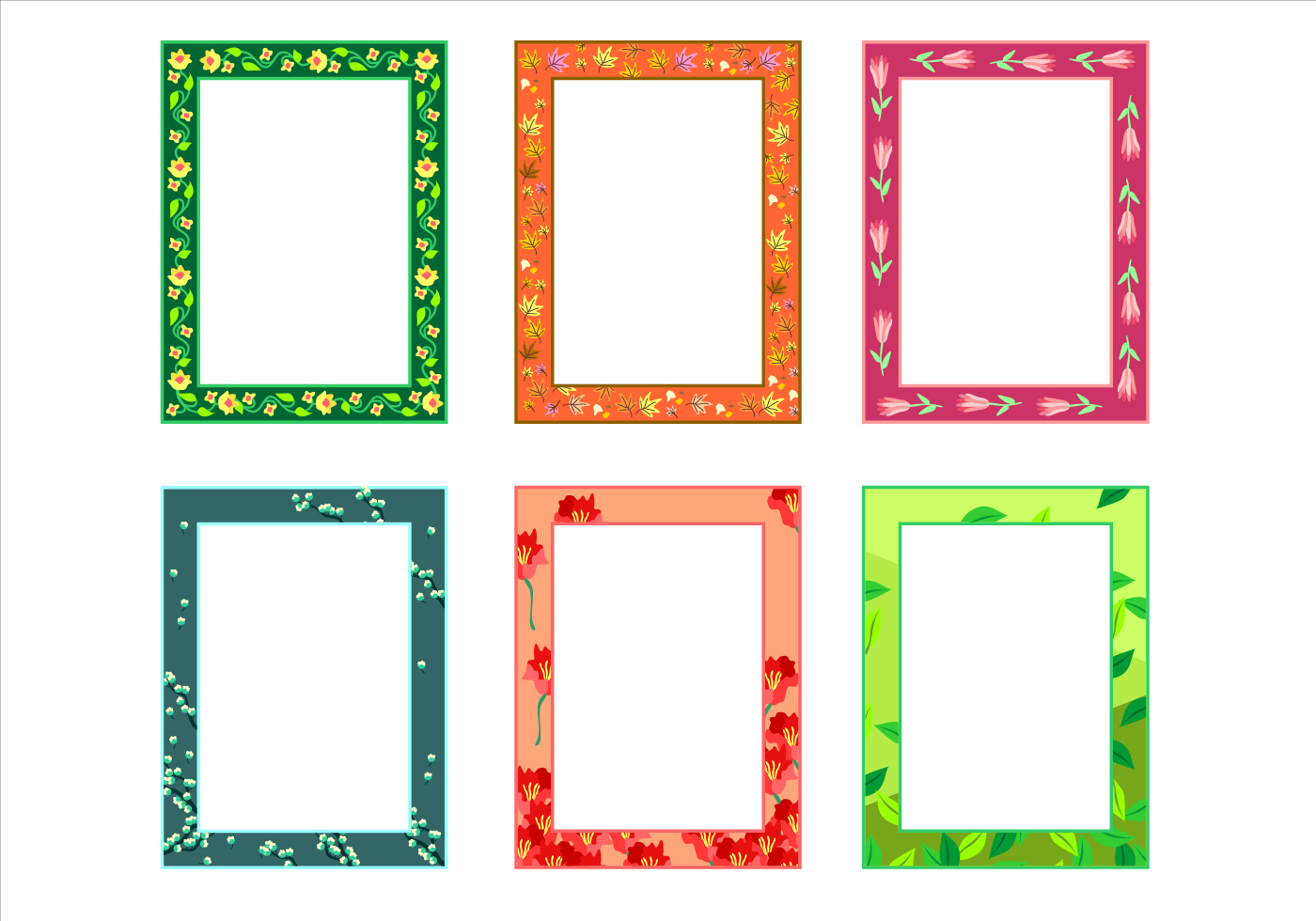 Natural Potrait Funky Frames Free Vector - Download Free Vector Art ...