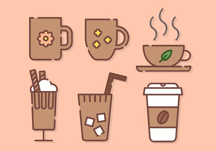 Vector lindo del café