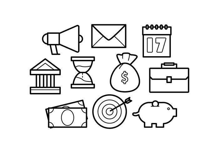 Gratis Line Icons Zakelijk Vector