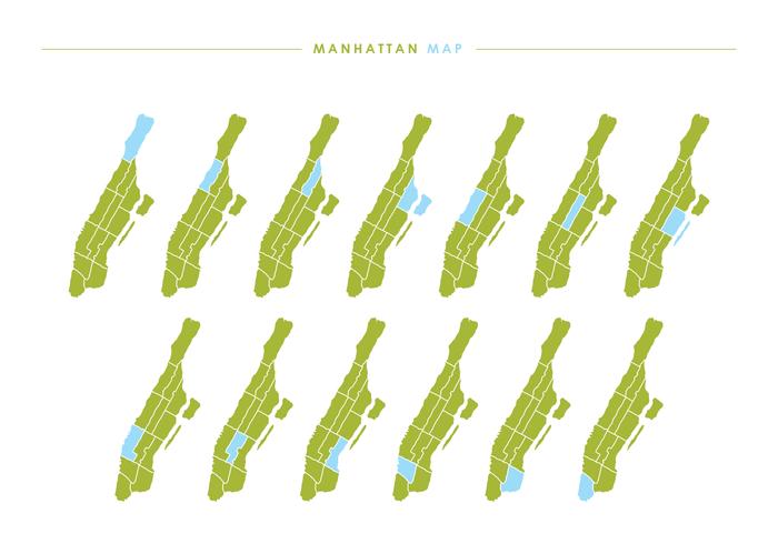 Manhattan Map Vector