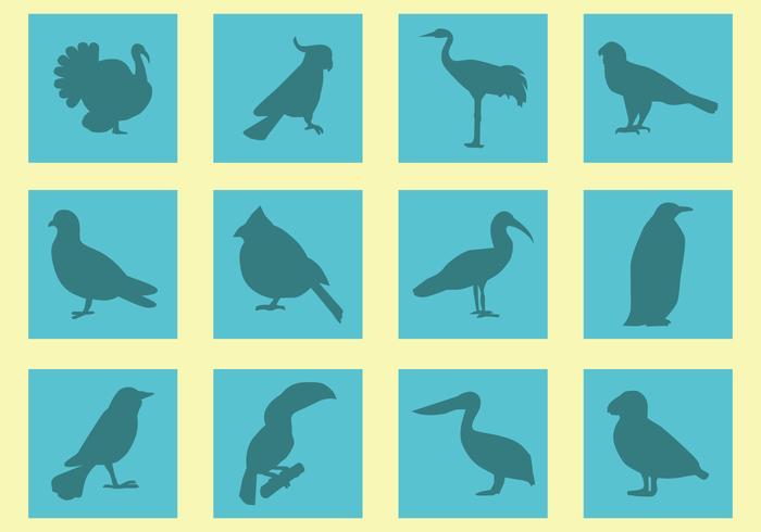 Silhouette der Vögel Vektoren