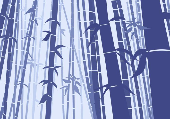 Bamboo Scene Flat Style