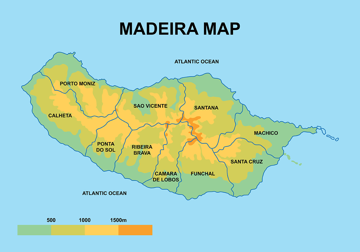 Madeira Maps Vector Download Free Vectors Clipart Graphics