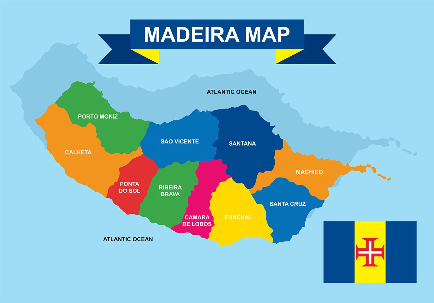 Madeira Maps Vector Download Free Vector Art Stock