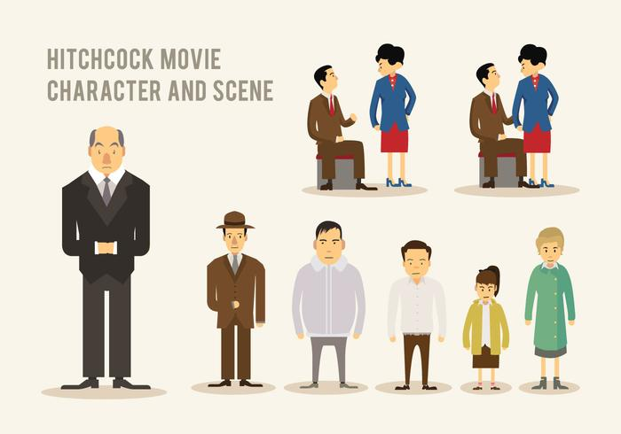 Hitchcock Movie Vector