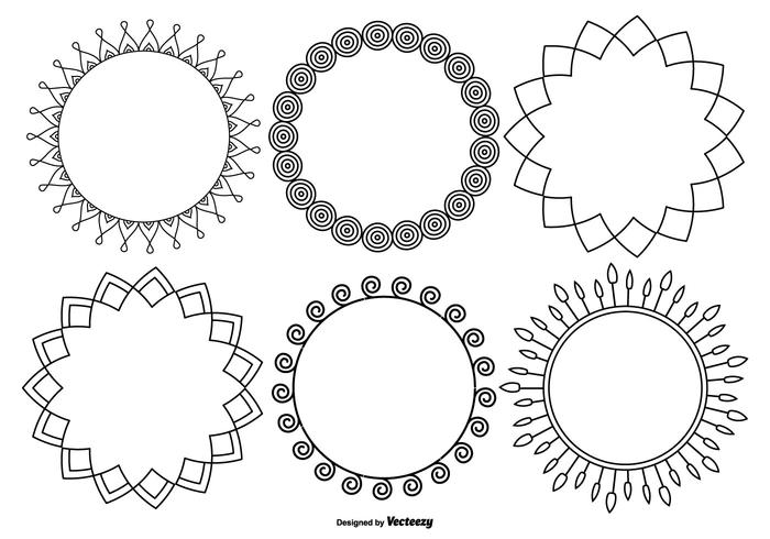 Funky Decorative Frame Collection vector