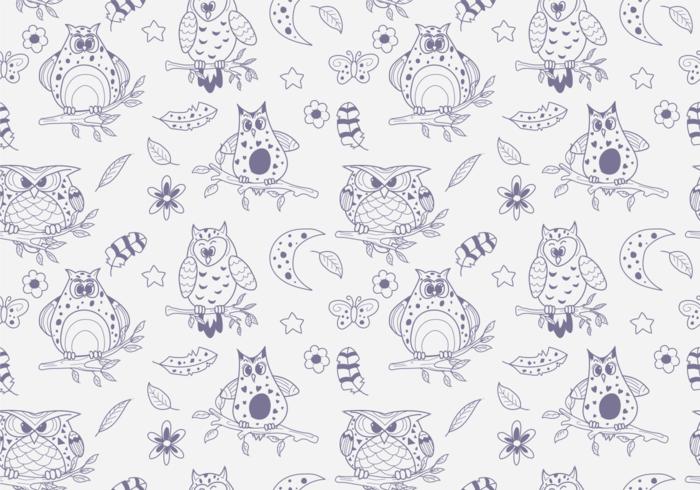 Buho Seamless Patterns