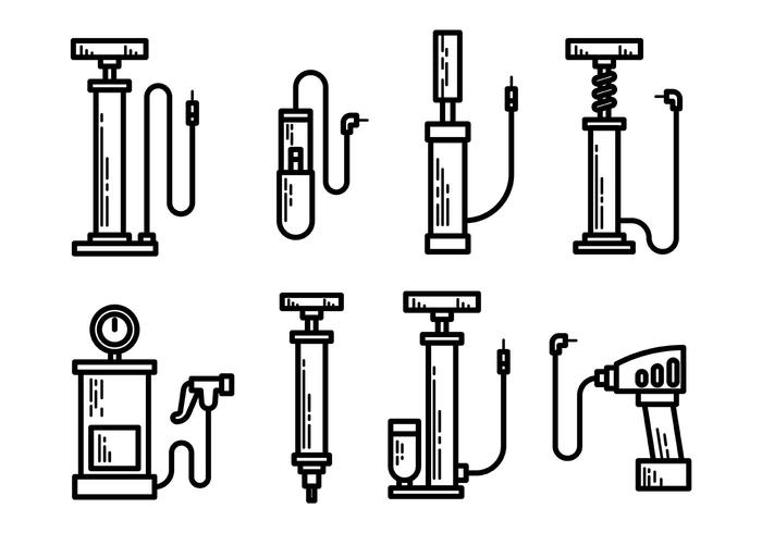 Free Air Pump Icons Vector