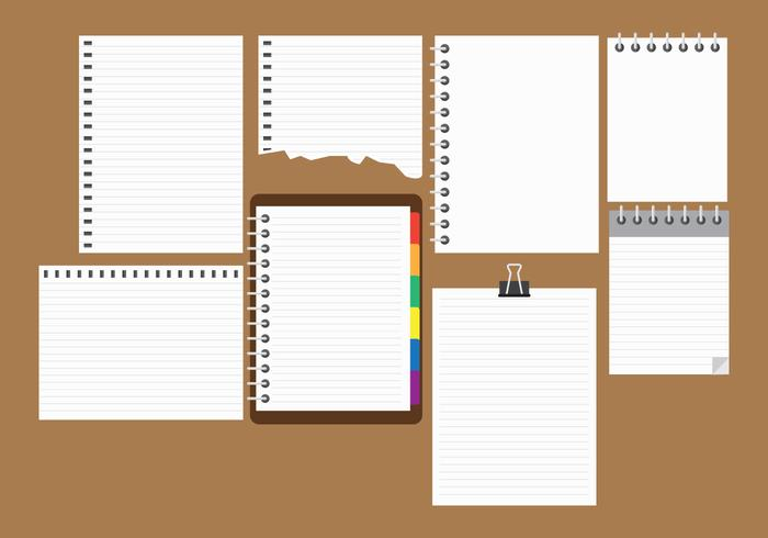 Free Block Notes Collection Vector