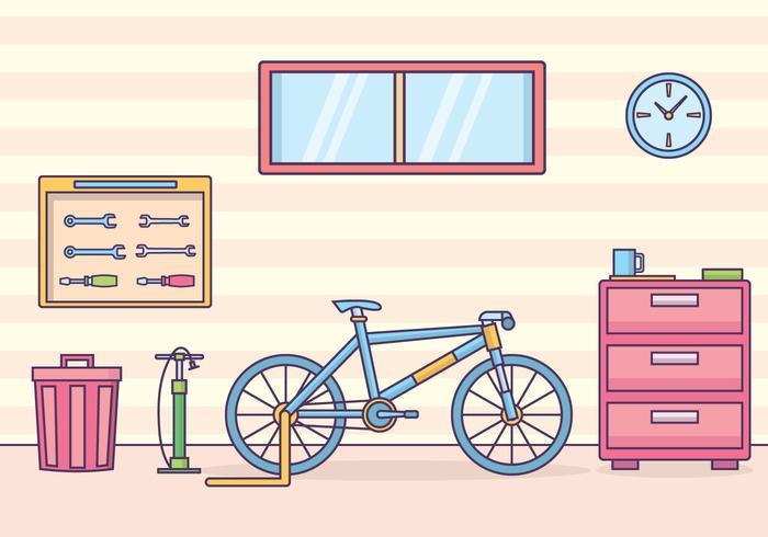 Bicycle Workshop Illustration