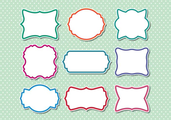 Collection of funky frame vectors