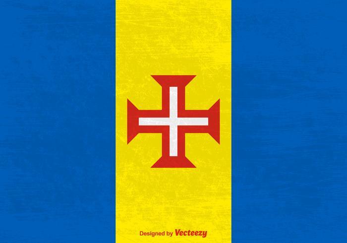 Madeira Vector Grunge Flag