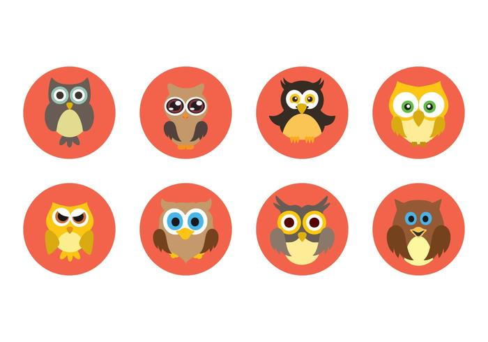 Free Cute Owl Icons Vector