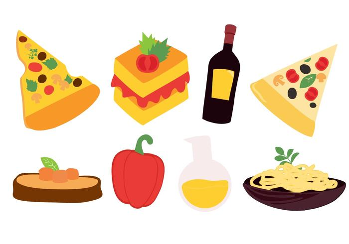 Gratis Italian Food Vector