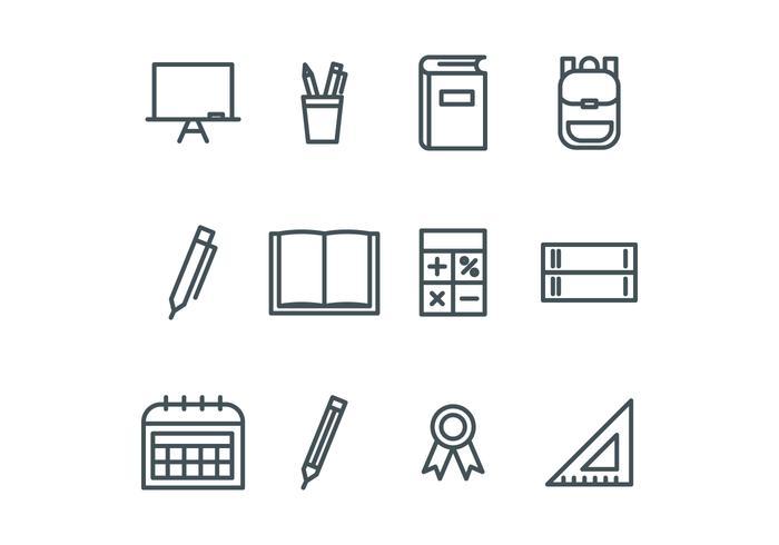 Iconos de la escuela esbozados