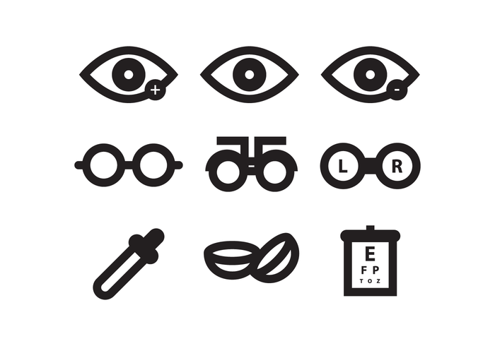 Augenarzt Icon Set