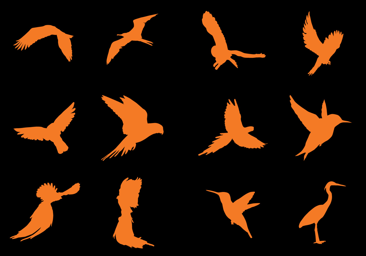 Flying Bird Silhouette Vectors - Download Free Vectors, Clipart Graphics & Vector Art