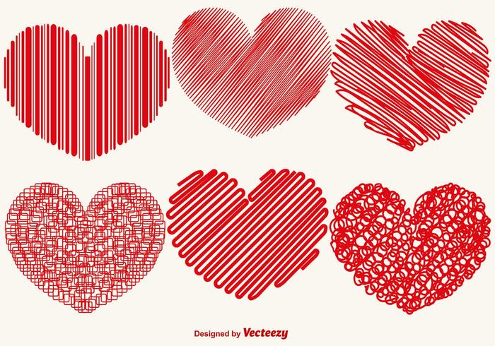 Vector Collection Of Abstract Hearts