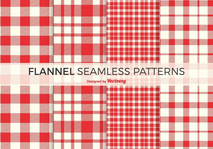 Patterns Red flanelle Free Vector