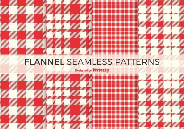 Kostenlose Red Flanell-Vektor-Muster vektor