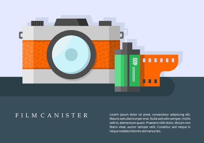 Camera and Film Canister Background