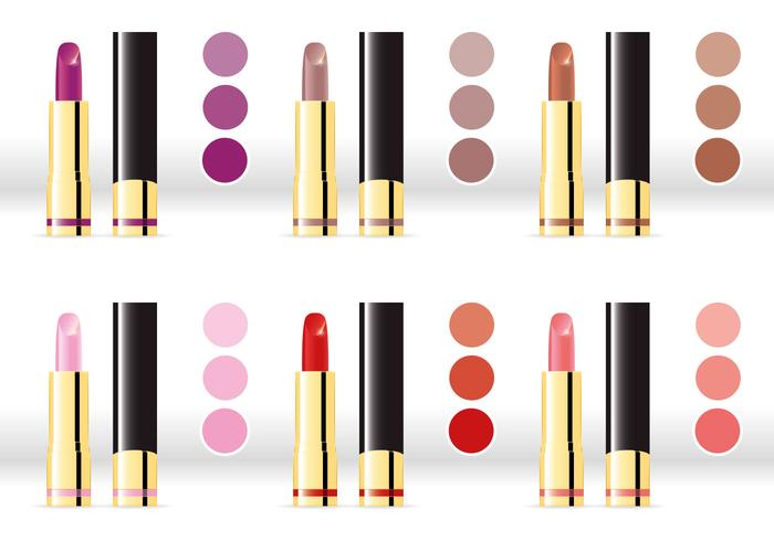 Lipsticks Color Variation Vectors