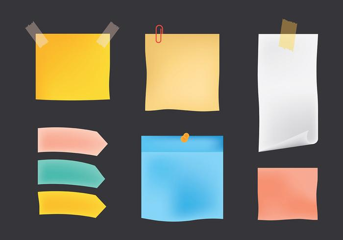 Block Notes Icons Vector
