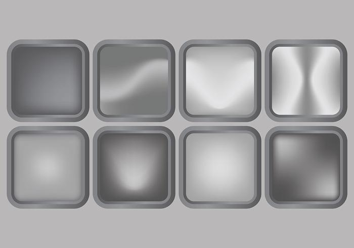 Brillante Vector gris del gradiente iconos