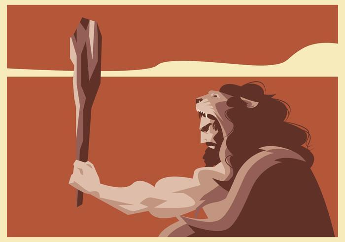 Hercules met leeuw Cloak Vector