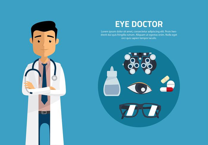 Eye Doctor Cartoon Vector