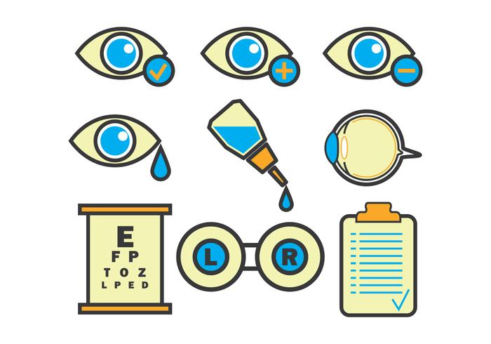 Eye Doctor Vector Icons