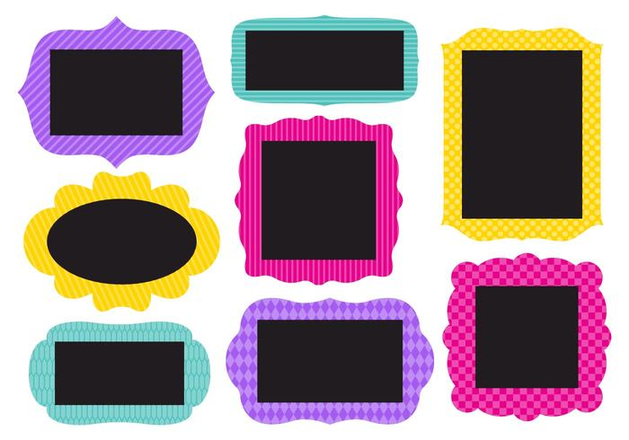 Free Collection of Funky Frames Vector
